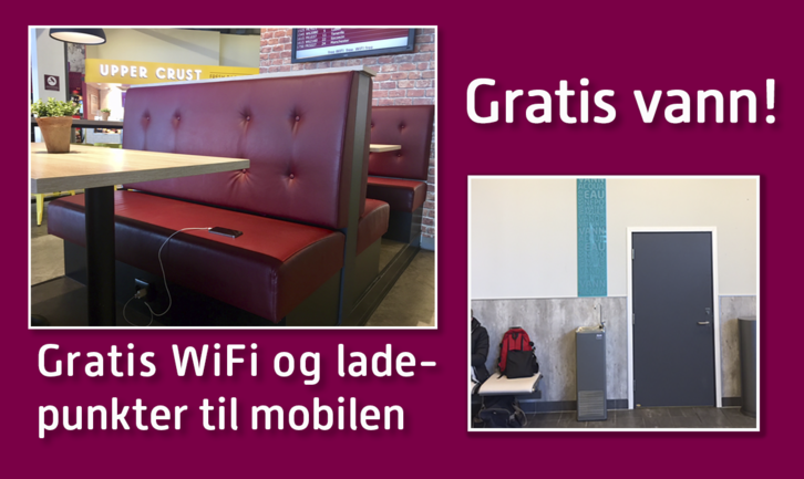 Free water and Wifi at TORP