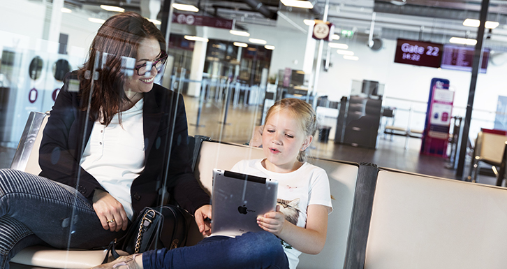 Free water and wifi at TORP Airport